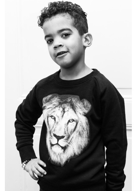 KIDS SWEATER LION BLACK