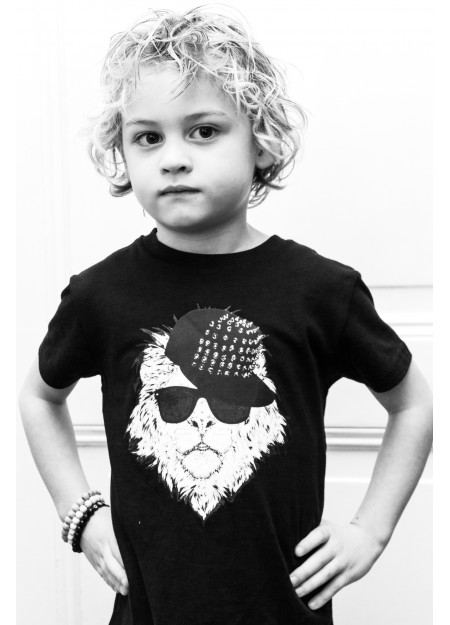 KIDS TEE COOL LION BLACK