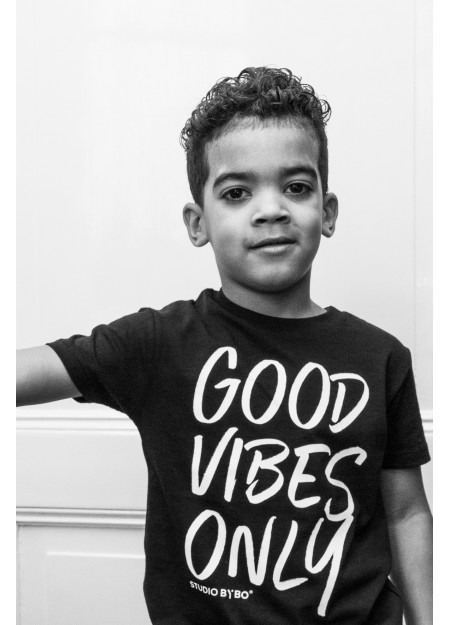 KIDS TEE GOOD VIBES BLACK