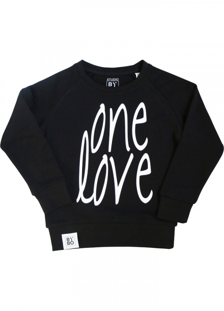 TEENS SWEATER ONE LOVE BLACK