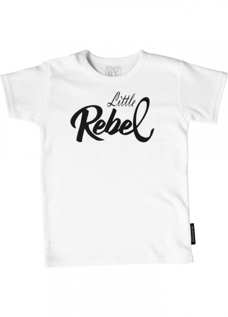 BABY TEE LITTLE REBEL WHITE