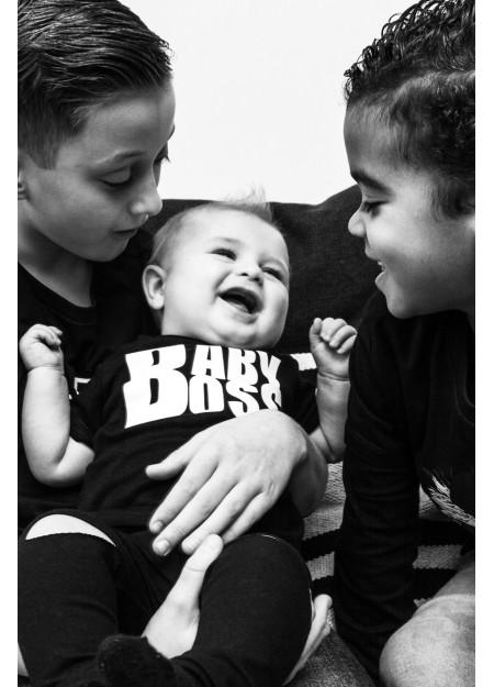 BABY SHIRT BABY BOSS BLACK