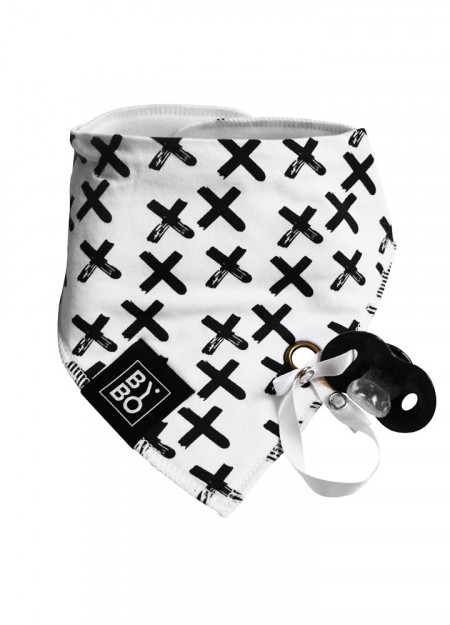 BANDANA SLAB CROSS WHITE