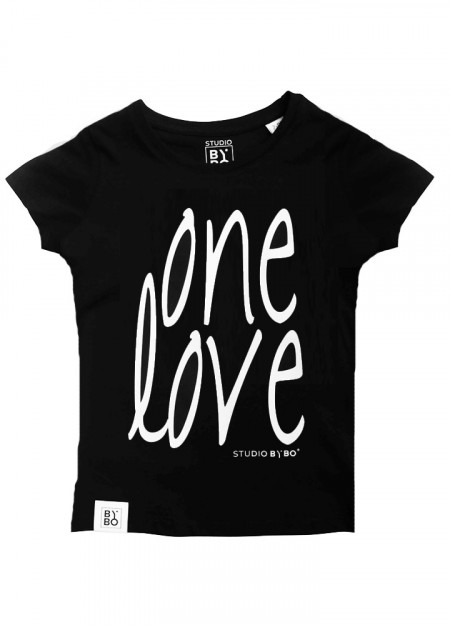 KIDS TEE ONE LOVE BLACK