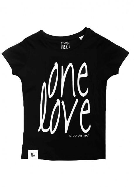 KIDS TEE ONE LOVE BLACK