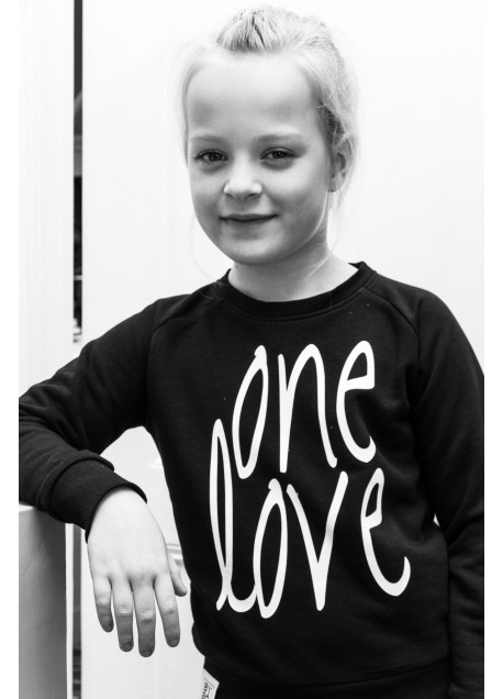 KIDS SWEATER ONE LOVE BLACK