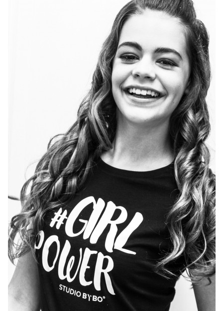 GIRLS SHIRT GIRL POWER BLACK