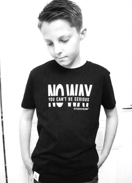 TEENS TEE NO WAY BLACK