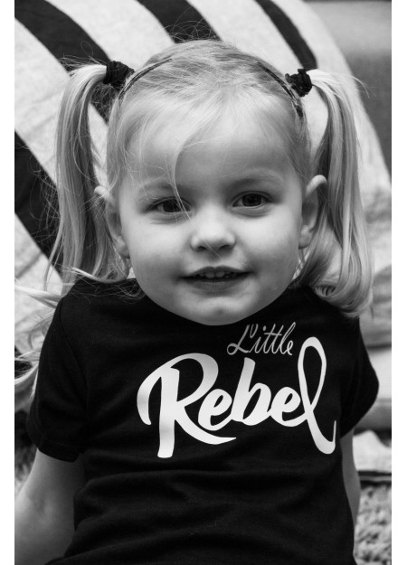 BABY TEE LITTLE REBEL BLACK