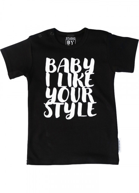 BABY TEE BABY LIKE YOUR STYLE BLACK