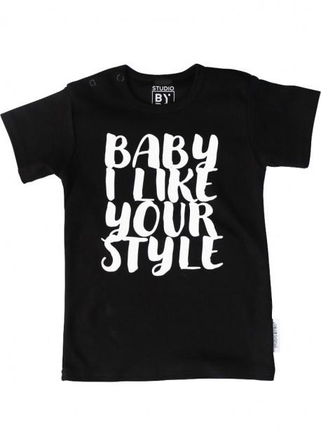 BABY TEE BABY LIKE YOUR STYLE BLACK
